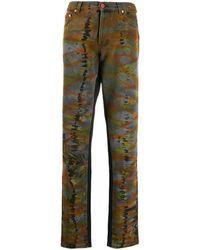Heron Preston Tie-dye Straight Jeans - Black