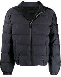 Prada Gewatteerde Mantel - Zwart