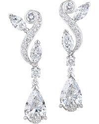 De Beers 18kt White Gold Adonis Rose Diamond Pendant Earrings - Metallic