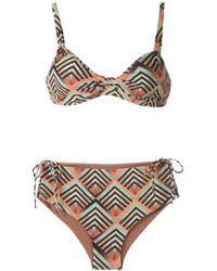 Lygia & Nanny Marcela Printed Bikini Set - Orange