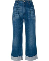 3x1 High Rise Jeans Met Rechte Pijpen - Blauw