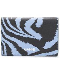 Ganni カードケース - ブルー