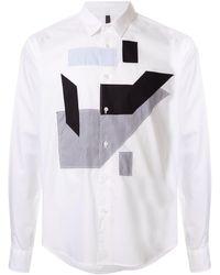 Neil Barrett Long-sleeved Multi-patch Shirt - White