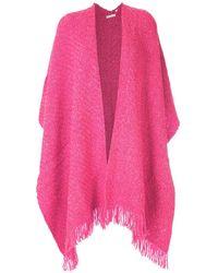 Osklen Wool Poncho - Pink