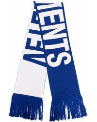 Vetements ニットスカーフ - ブルー