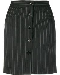 Moschino Pinstripe Mini Skirt - Black