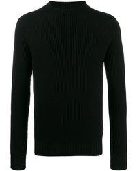 Aspesi Long Sleeve Knit Sweater - Black