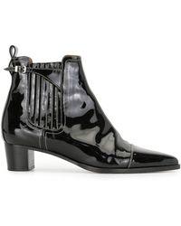 Hermès Ботильоны Pre-owned С Заостренным Носком - Черный