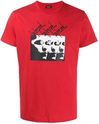 DIESEL T-shirt ample T-Diego-J12 - Rouge