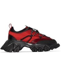Angel Chen Dragon Teeth Low Top Trainers - Red