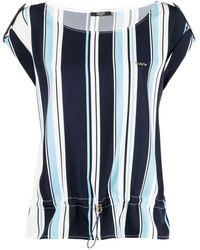 Liu Jo ストライプ ロゴ Tシャツ - ブルー