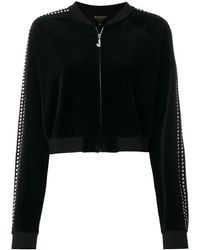 Juicy Couture Exclusive Swarovski Embellished Velour Crop Jacket - Black