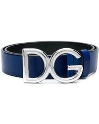 Dolce & Gabbana ロゴバックル ベルト - ブルー
