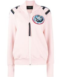 Mr & Mrs Italy Patched Bomber Jacket - Розовый