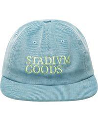 Stadium Goods ロゴ コーデュロイキャップ - ブルー