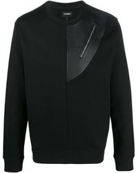 Les Hommes ジップポケット セーター - ブラック