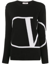 Valentino - Vロゴ オーバーサイズ プルオーバー - Lyst