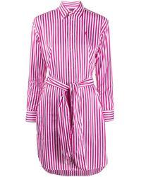Polo Ralph Lauren Striped Shirt Dress - Pink