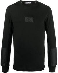 Calvin Klein Футболка С Нашивкой-логотипом - Черный