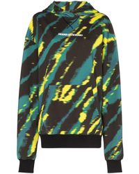 House of Holland Sudadera con estampado tie-dye y capucha - Verde