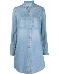 Calvin Klein デニムシャツドレス - ブルー