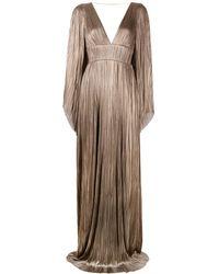 Maria Lucia Hohan Плиссированное Вечернее Платье Zakiya - Коричневый