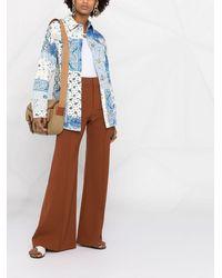 Etro パッチワーク シャツジャケット - ブルー