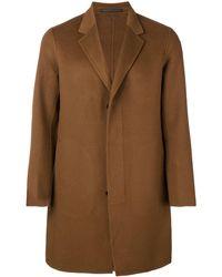 Theory Single Breasted Coat - Natural