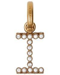 Burberry Crystal 'i' Alphabet Charm - Metallic