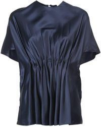 Vionnet - Round Neck Pleated Blouse - Lyst
