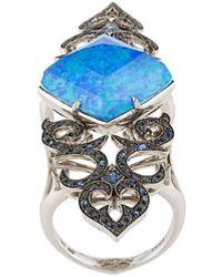 Stephen Webster Crystal Haze Long Finger Ring - Blue