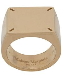 Maison Margiela Four Stitch Signet Ring - Metallic