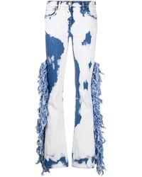 Gcds Acid Wash Wide-leg Jeans - Blue