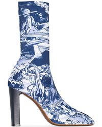 Neous X Timba Smits Blue Laelia 95 Ankle Boots