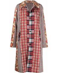 Pierre Louis Mascia Patchwork-design Coat - Red