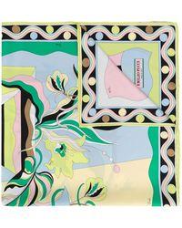 Emilio Pucci - Vallauris Print Silk-twill Square Scarf - Lyst