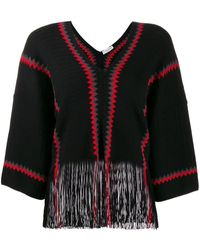 Sonia Rykiel バイカラー セーター - ブラック