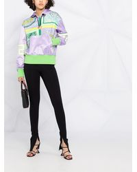Versace Худи С Принтом Barocco Mosaic - Пурпурный