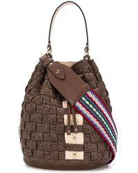 Casadei Twiga Maxi Bucket Bag - Brown