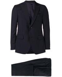 Dell'Oglio ツーピース スーツ - ブラック