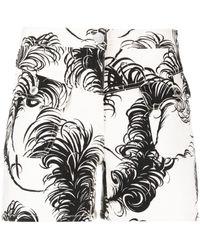 Moschino Printed Denim Shorts - Multicolor
