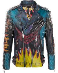 Philipp Plein Evil Smile ライダースジャケット - ブラック
