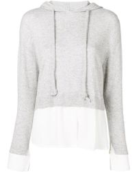 Max & Moi - Hood Shirt Layered Jumper - Lyst