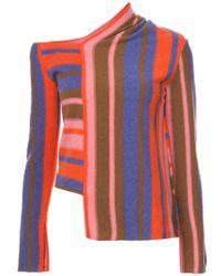 Peter Pilotto - Asymmetric Striped Sweater - Lyst