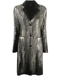 Avant Toi Metallic Textured Long Blazer