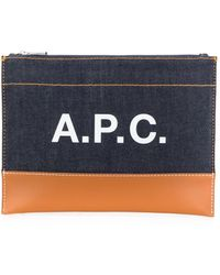 A.P.C. - ロゴ クラッチバッグ - Lyst