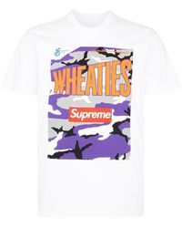 Supreme Wheaties Box ロゴ Tシャツ - ホワイト