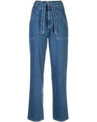 Sea Marble Straight-leg Jeans - Blue