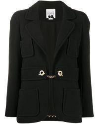 Edward Achour Paris Single-breasted Jacket - Black