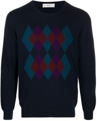 Pringle of Scotland Argyle-intarsia Sweater - Blue